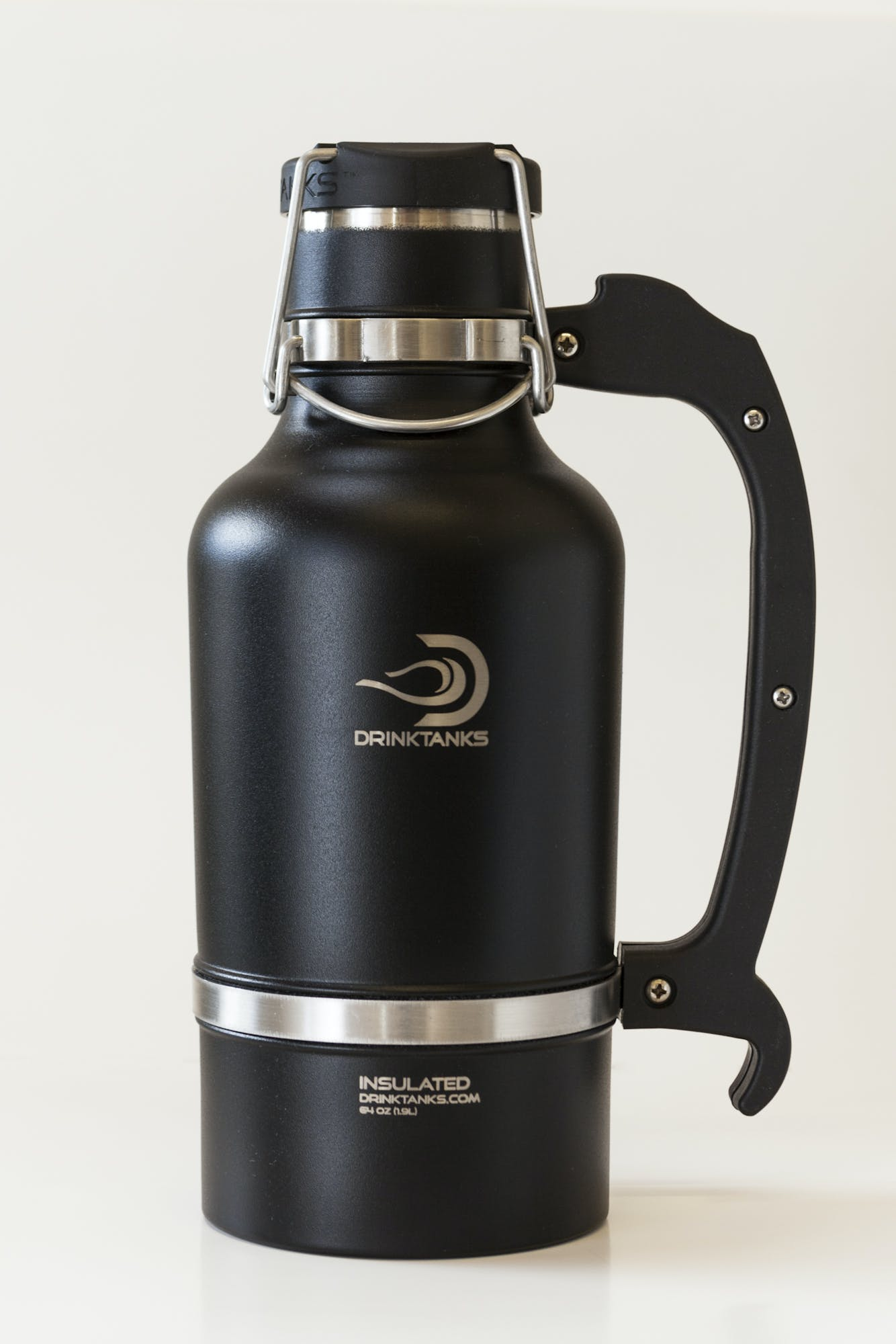 Drink Tanks Growler - Enjoy beer exactly as it was intended. Cold. Fresh. Carbonated. - 64oz Capacity (Black) Growler sold by Drink Tanks