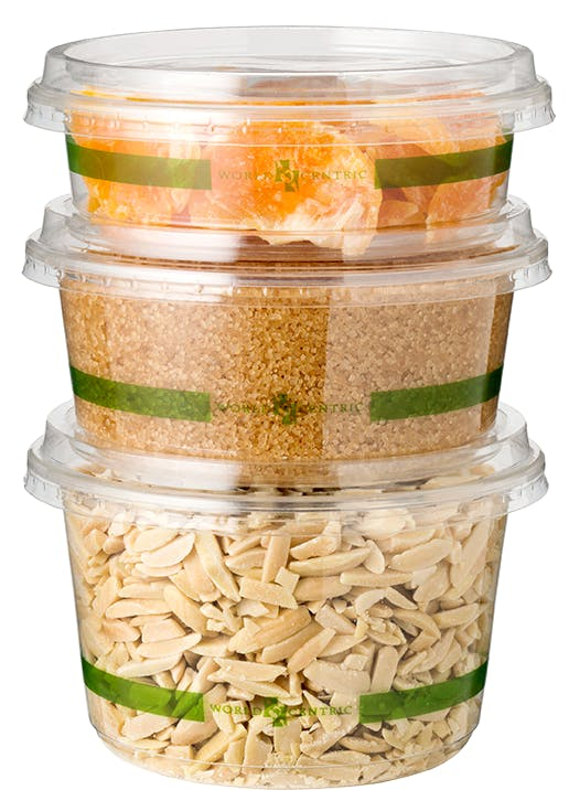 8 oz round deli containers, 2 colors Eco Friendly Take Out Container sold by Good Start Packaging