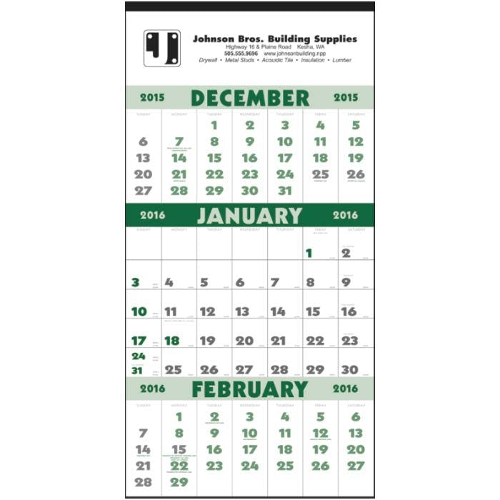 Norwood Promotional Products :: Product :: 3-Month Planner (12 Sheet) Custom calendar sold by Distrimatics, USA
