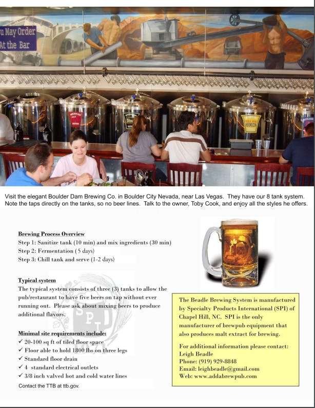 Brewing System Brewhouse sold by specialty products intl. ltd
