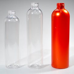 12 oz. Orange Round PET Bullet Bottle (#214116) Plastic bottle sold by Berlin Packaging