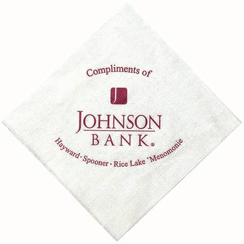 Napkins, 1-Ply White NapkinsAS120BN, White Beverage, Linen Embossing Napkin sold by Distrimatics, USA