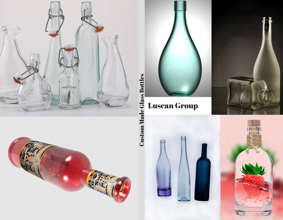 Custom Made Glass Bottles Wine bottle sold by Luscan Group