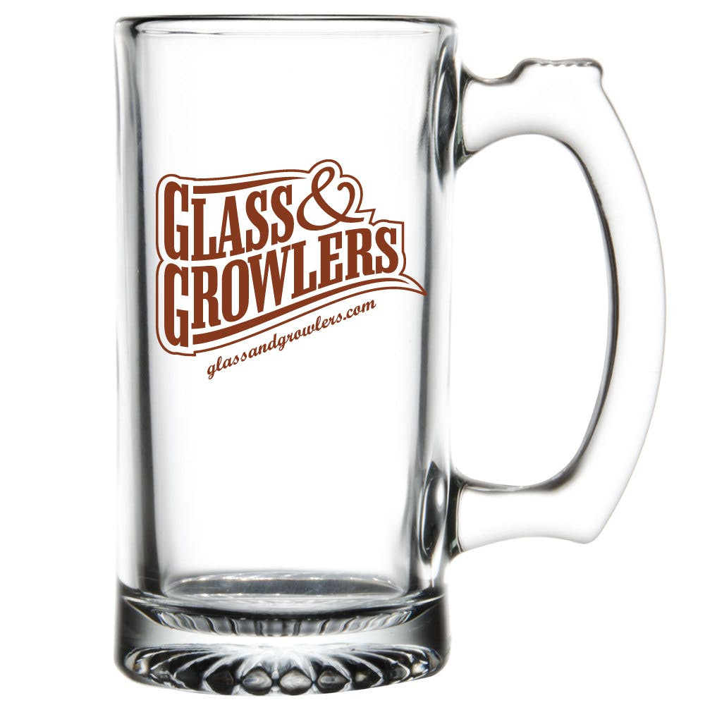 Glass Mug 12 oz Customized Beer Mug sold by Glass and Growlers
