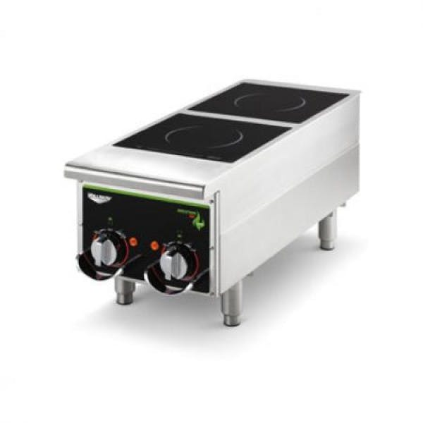 2 Hob Stainless Heavy Duty Induction Hot Plate w/ Manual Controls
