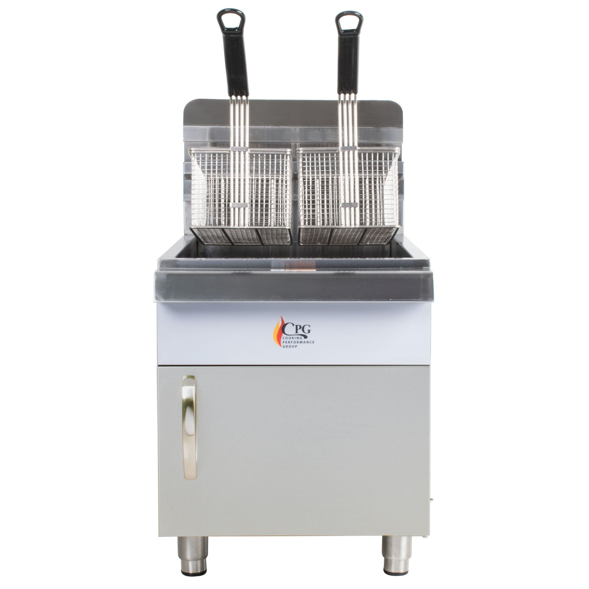 Cooking Performance Group CF30 30 lb. Gas Countertop Fryer - 53,000 BTU Commercial fryer sold by WebstaurantStore