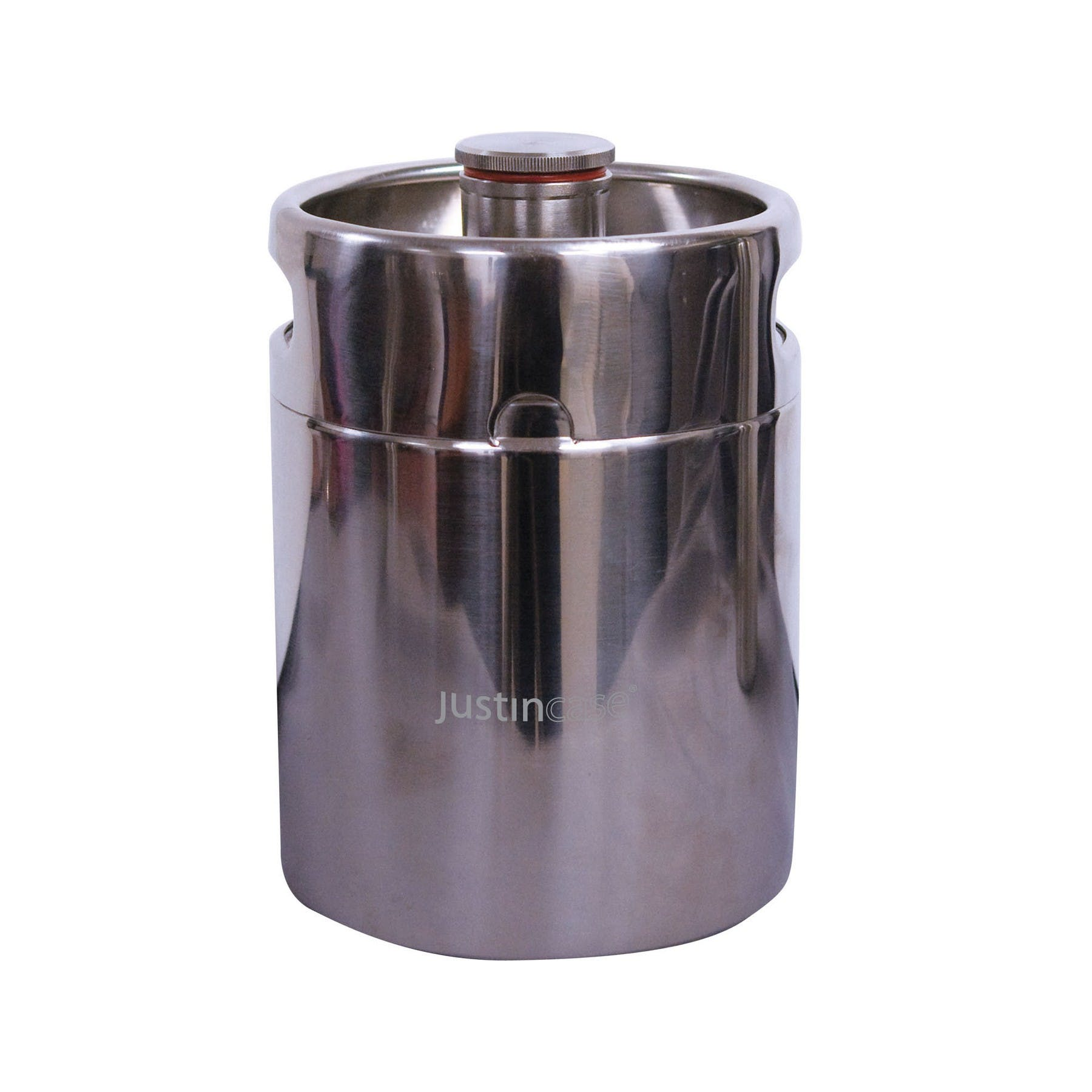 Stainless Steel Mini-Keg Growler (Item # MIEJT-KAQTI) Growler sold by InkEasy