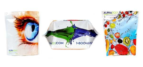 Stand-Up Pouches Stand-up pouch sold by Alpha Poly Corporation