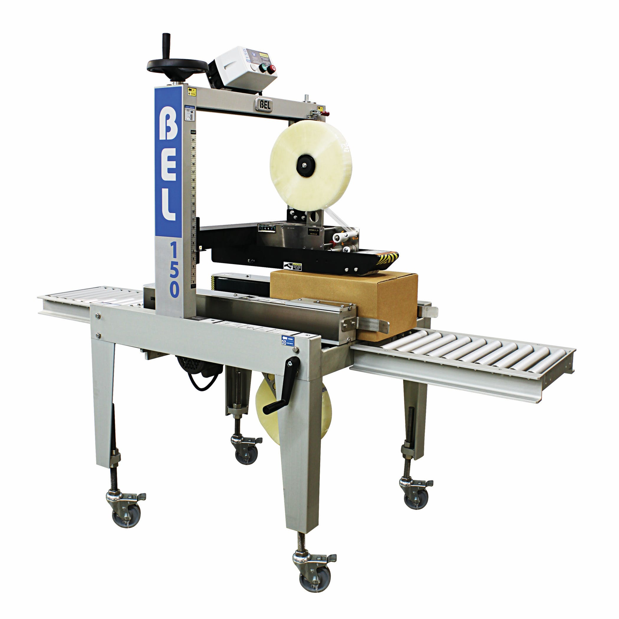 BEL 150 - Top and Bottom Sealer.  Semi-Auto. - Belcor Case Sealer - BEL-150, Semi-Automatic - sold by Package Devices LLC