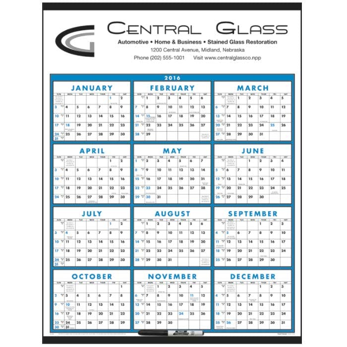 Norwood Promotional Products :: Product :: Span-A-Year (Laminated with Marker) Custom calendar sold by Distrimatics, USA