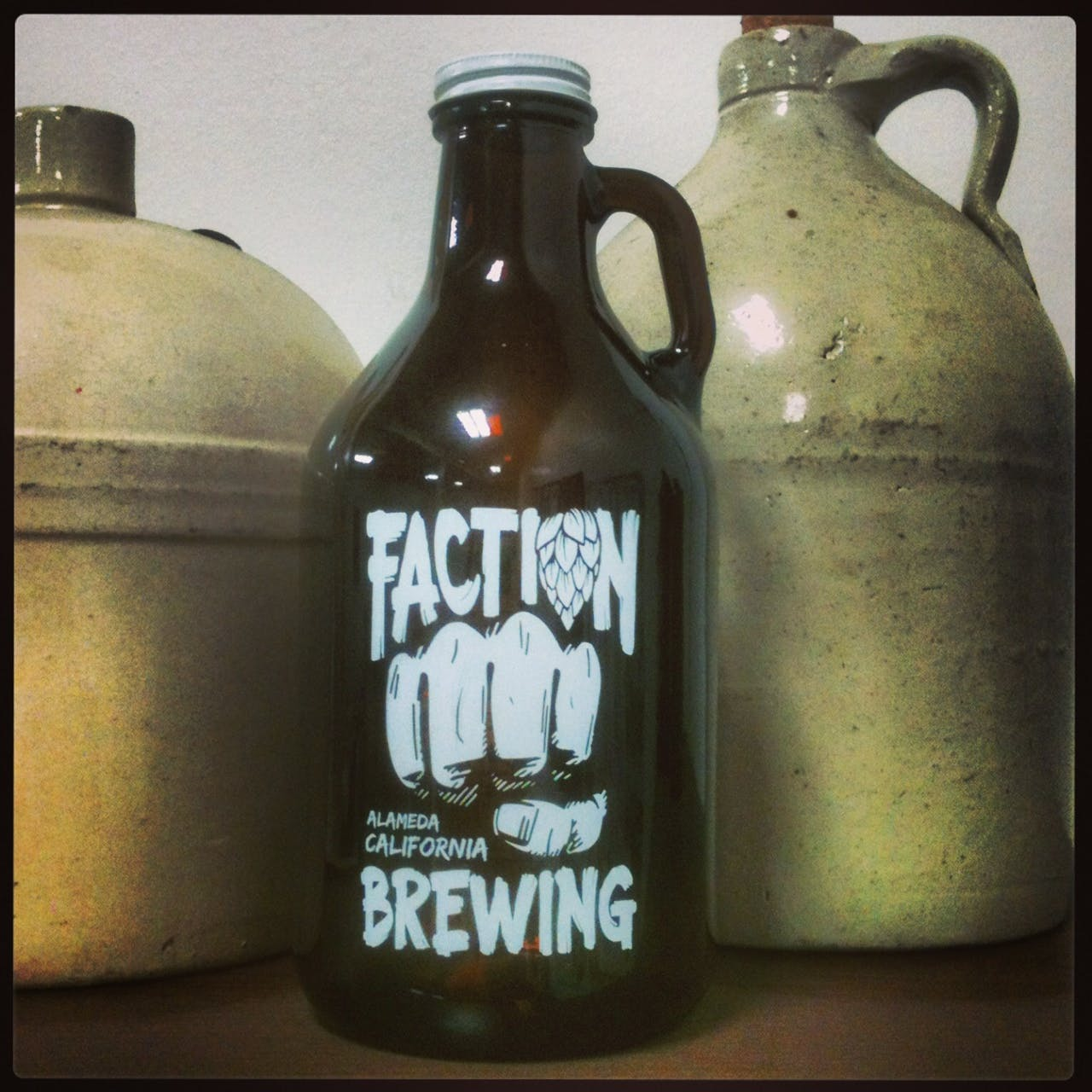 32 oz Mini Amber Growler Growler sold by Flour City Growlers