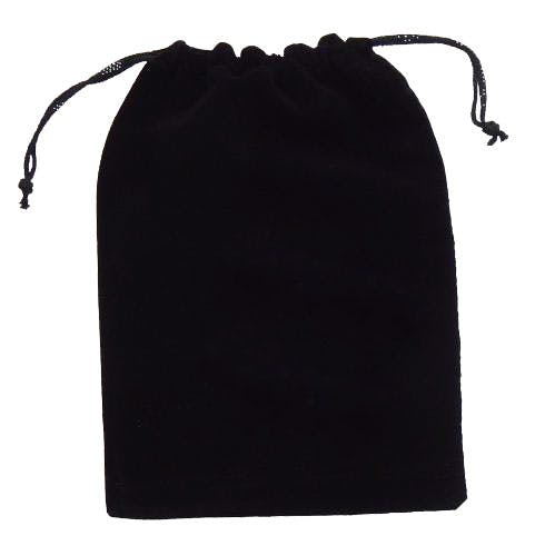 Black Velvet Drawstring Pouch (Item # HFJQM-HRYZD) Velvet bag sold by InkEasy