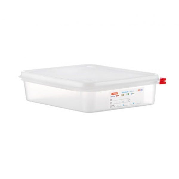 4.2 qt. 1/2 Size Colorclip® Clear Airtight Food Storage Container w/ Lid