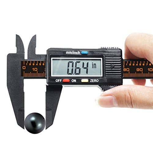 FineSource Electronic Digital Caliper Inch/Metric Conversion 0-6 Inch/150 mm Carbon Fiber Gauge Micrometer Extra Large LCD Screen Auto Off Featured Measuring Tool - Black - sold by Meilestone