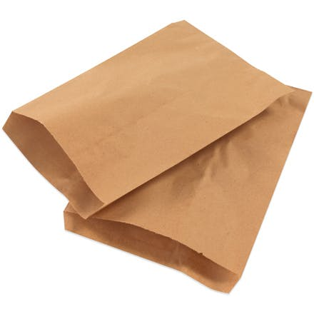 Kraft Flat Merchandise Bags Kraft packaging sold by Ameripak, Inc.