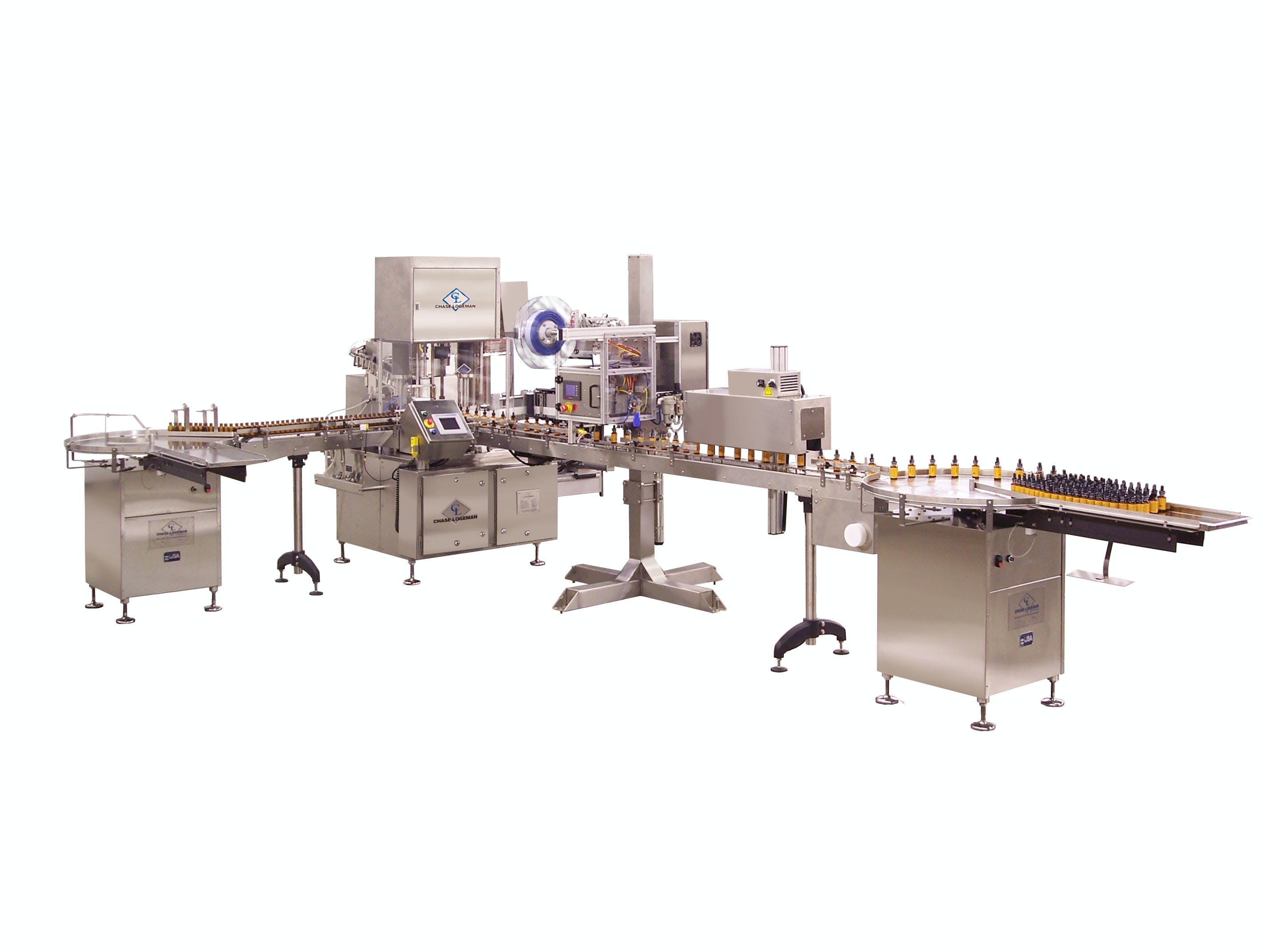 From filling machine only to the complete line integration, let Chase Logeman use our expertise to help automate the filling process. - Filling and Capping with pump sprayer or dropper tip - sold by Chase-Logeman Corporation