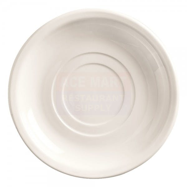 "Porcelana 6"" Bright White Double Well Saucer"