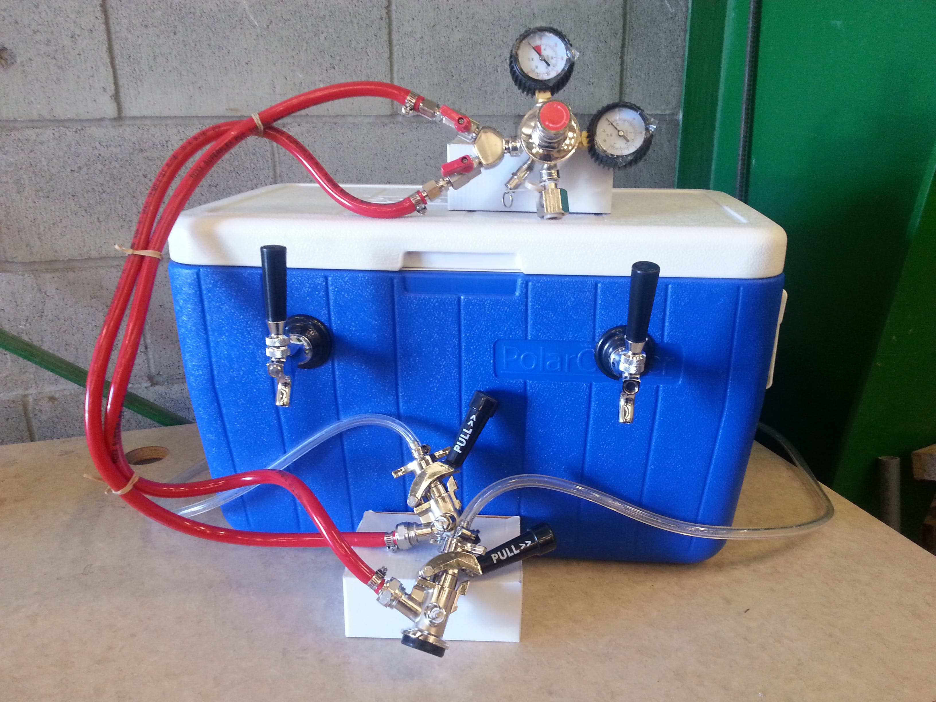 Jockey Box - Double Faucet Keg sold by Gopher Kegs