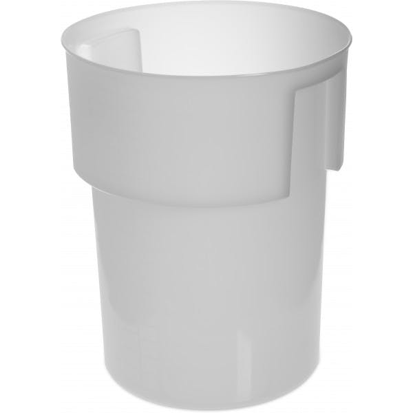 22 qt. White Plastic Bains Marie Food Storage Container