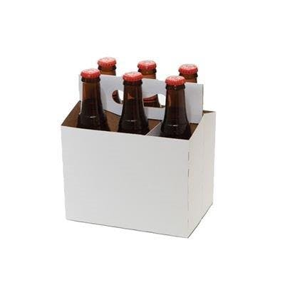 6 Pack Cardboard Bottle Carriers Bottle carrier sold by Pak-it Products