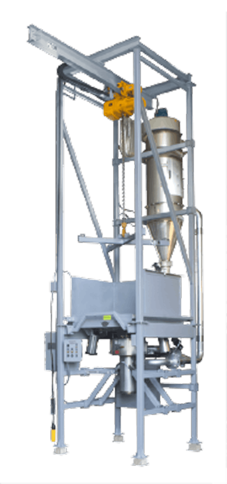 Bulk Bag / Super Sack Discharger Bulk bag discharger sold by EAS Corp