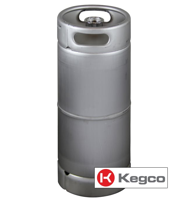 5 Gallon (1/6 Barrel) Commercial Kegs - Drop-In D System Sankey Valve Keg sold by Beverage Factory
