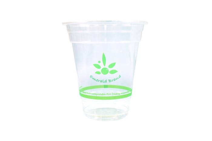 12 oz Compostable Cold Cup Disposable cup sold by Emerald Brand