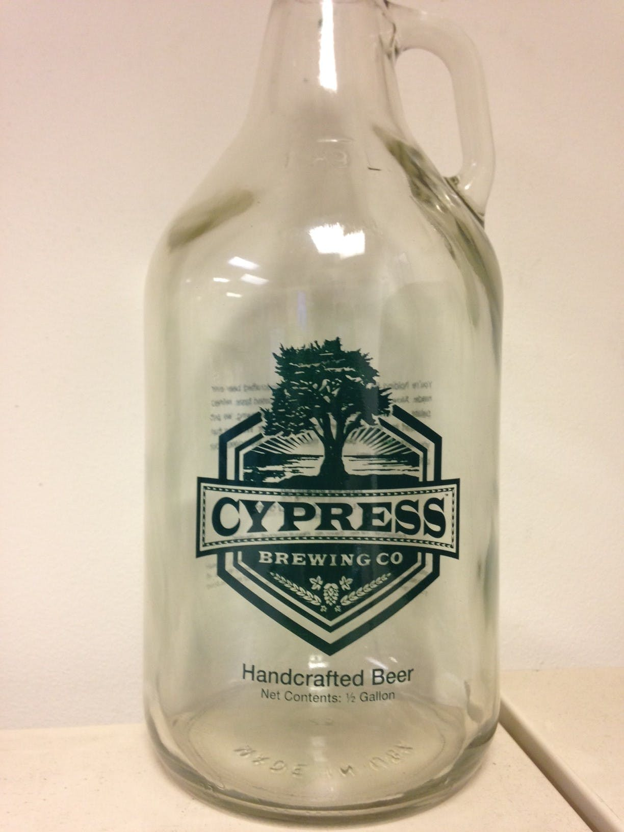 Clear Growler Growler sold by Mission Screen Printing