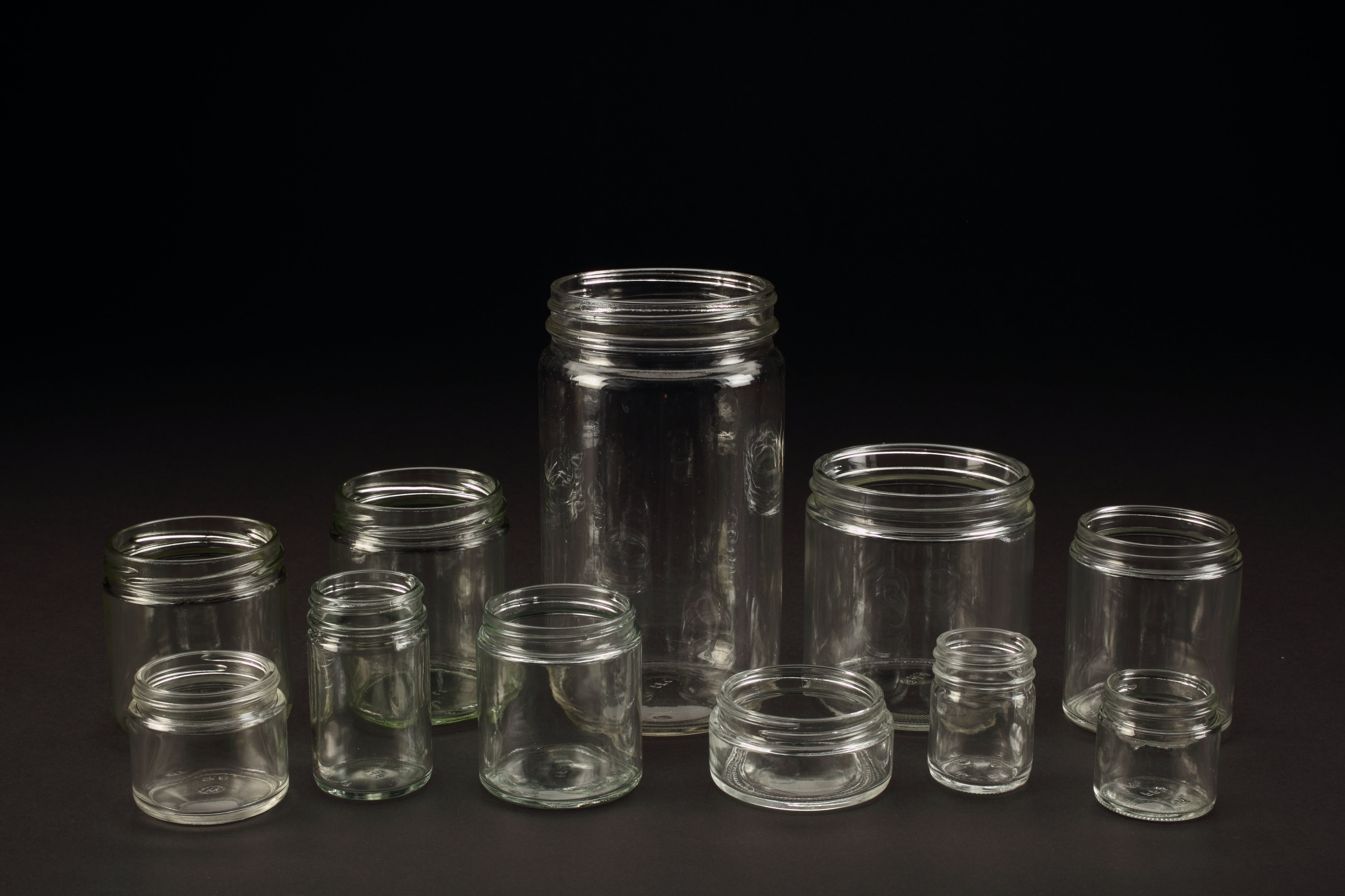 Straight Sided Jars Glass bottle sold by WB Bottle