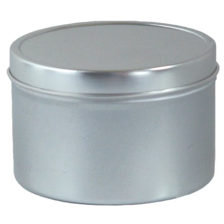 8 oz deep seamless tin  Metal tins sold by Inmark Packaging