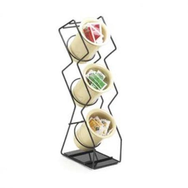 3 Cylinder Black Wire Flatware Display Tower