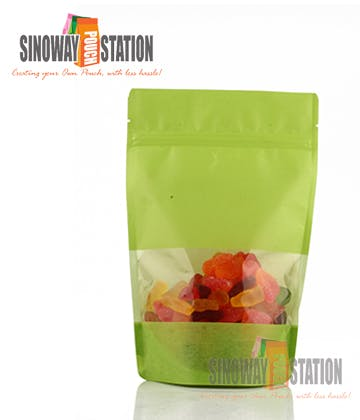 Lime Rice Paper Stand-up pouch sold by sinowaypouchstation.com,LLC