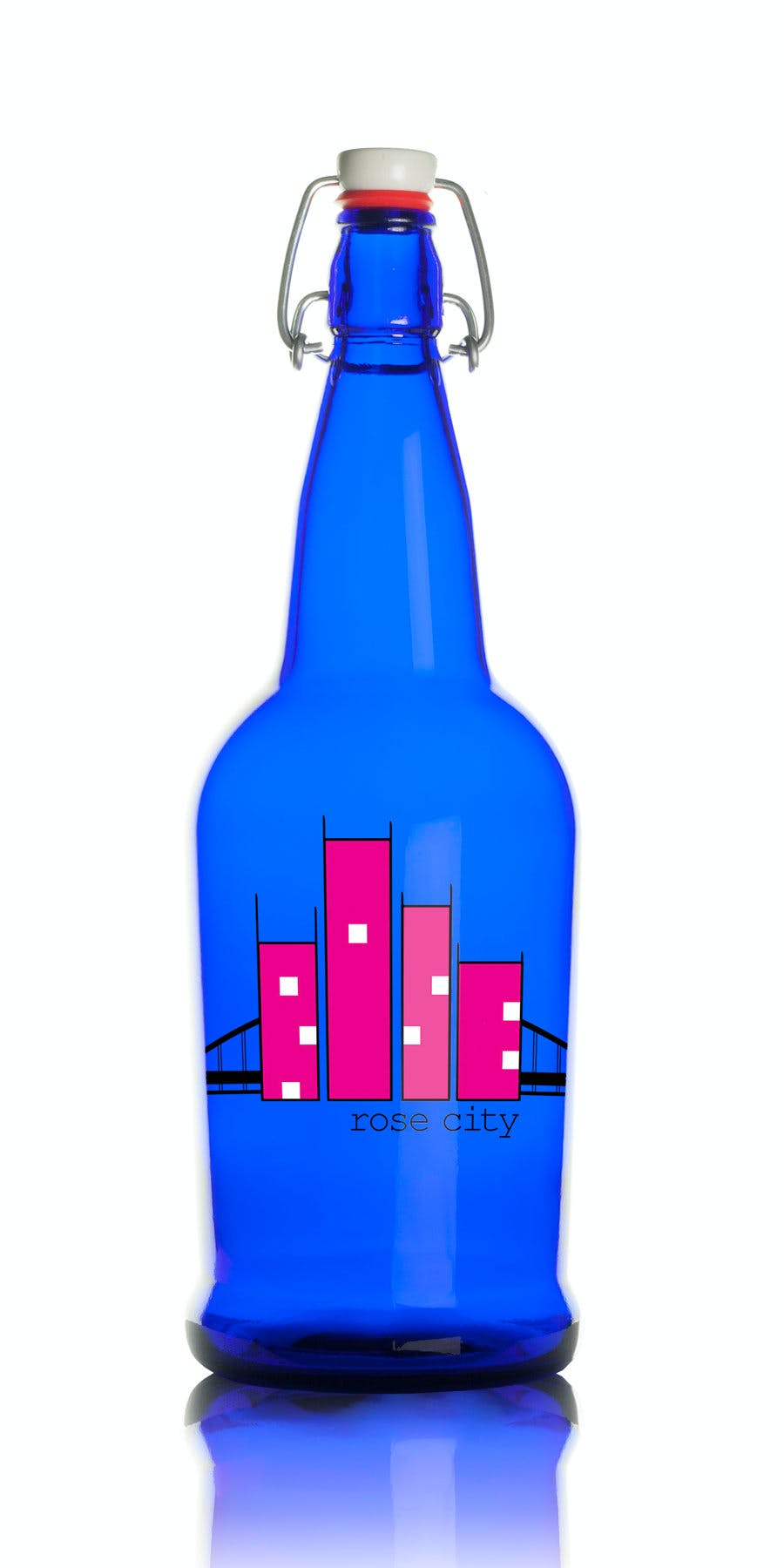 1 Liter Flip Top Growler (Item # SJIIO-JLGLV) Growler sold by InkEasy