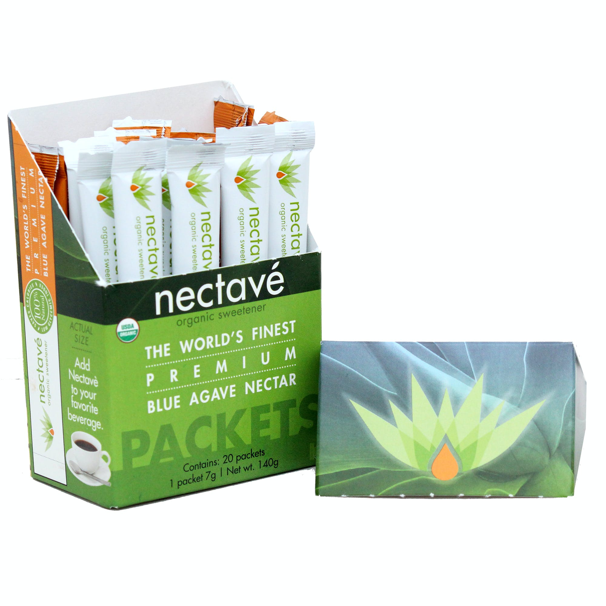 Organic Agave Nectar Personal Sticks Agave sweetener sold by M5 Corporation