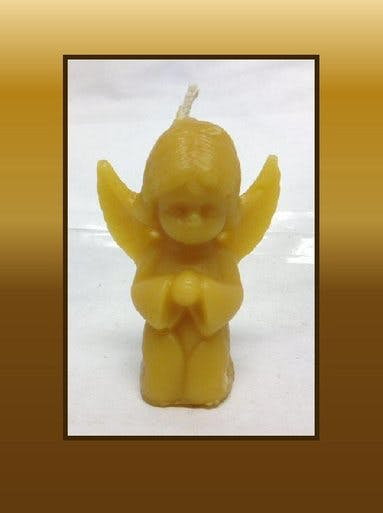 ANGEL CANDLE - SMALL Candle sold by Bennett's Honey Farm