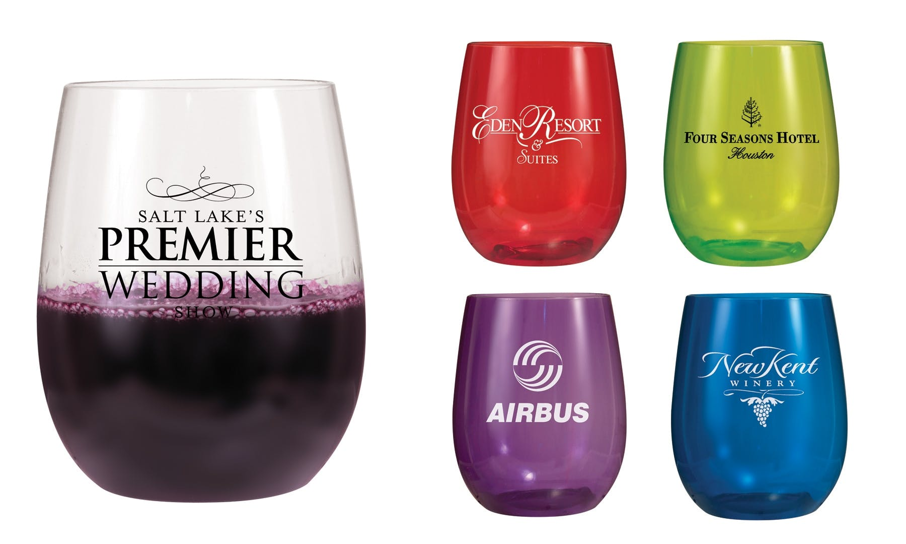 12 Oz. Stemless Wine Glass (Item # ZEEKT-JADJW) Wine glass sold by InkEasy