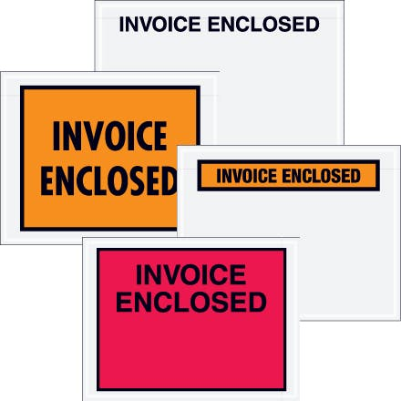 Invoice Enclosed Envelopes Envelope sold by Ameripak, Inc.