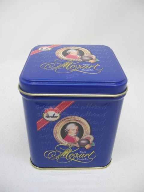 Square tea tin with loose lid - Tea Tin - sold by Timeless Tins