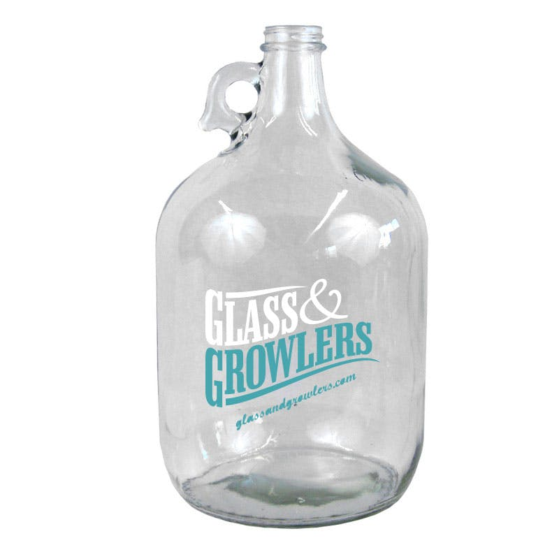 1 Gallon Flint Glass Growler Growler sold by Glass and Growlers