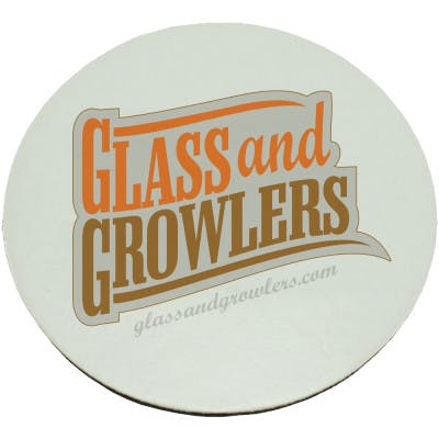 Full Color Circle Coasters (Light Weight 35pt) | Glass and Growlers Drink coaster sold by Glass and Growlers