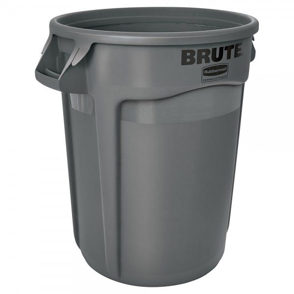 Brute® 44 gal. Gray Round Plastic Trash Can