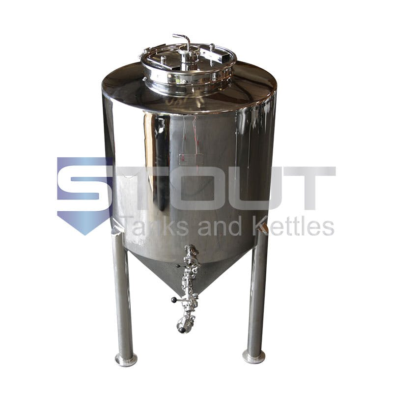 3 BBL Non-Jacketed Fermentor with cooling coil