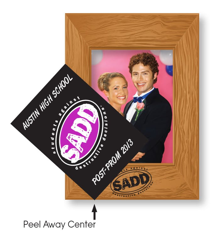 Removable Adhesive Photo Frame (Item # JGKKT-JNDOE) Promotional sticker sold by InkEasy