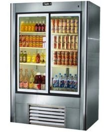 "Leader LS54 - 54"" Sliding Glass Door Reach In Refrigerator Commercial refrigerator sold by Elite Restaurant Equipment"