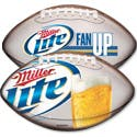 "2.968"" x 4.938"" Football Drink coaster sold by Boelter Beverage"
