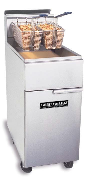35-50lb Floor Model Gas Fryer Commercial fryer sold by ChefsFirst
