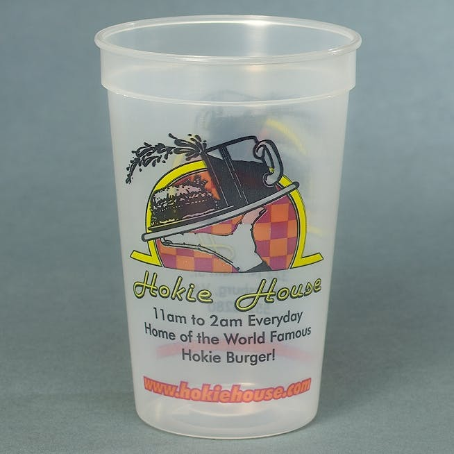 Full Color 12 oz. Stadium Cup Plastic cup sold by MicrobrewMarketing.com