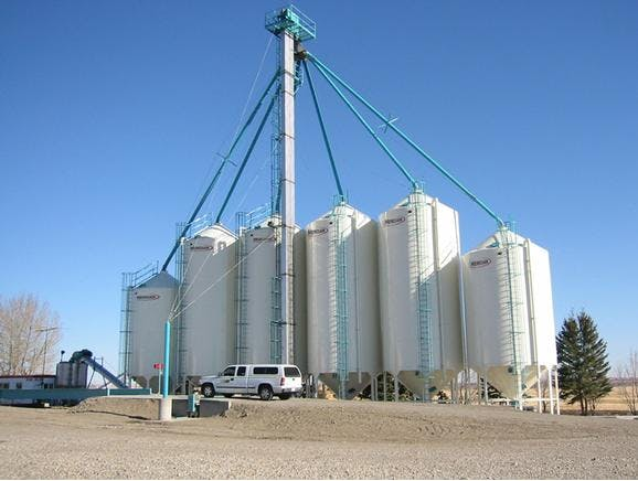 Grain Silos Grain silo sold by Peak Equipment