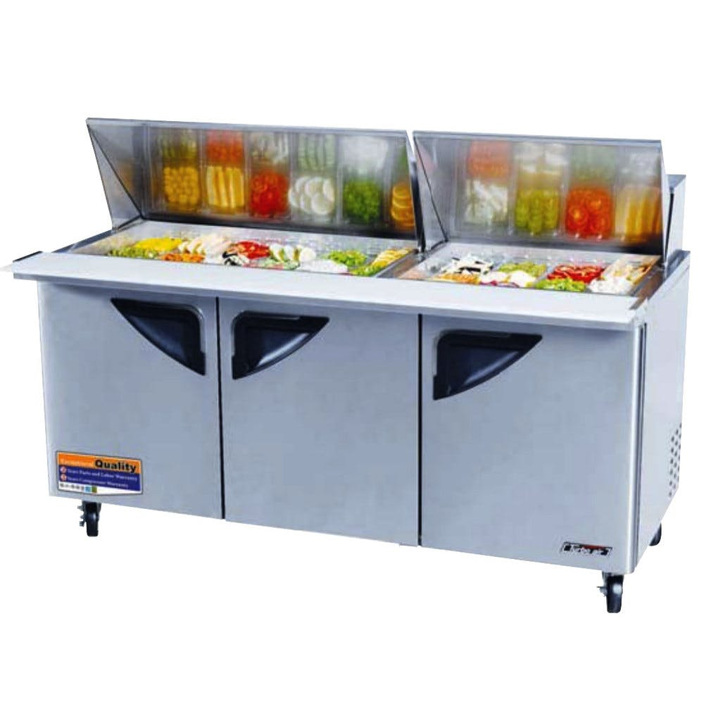 Turbo Air TST-72SD-30 Sandwich / Salad Prep Table - sold by pizzaovens.com