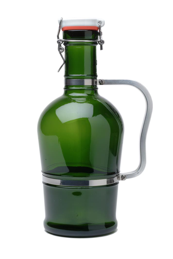 #600 Green 2L German Growler with Standard Metal Handle Growler sold by Tote Glass